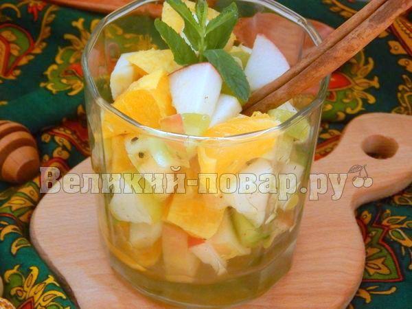 фруктовый салат с медом рецепт