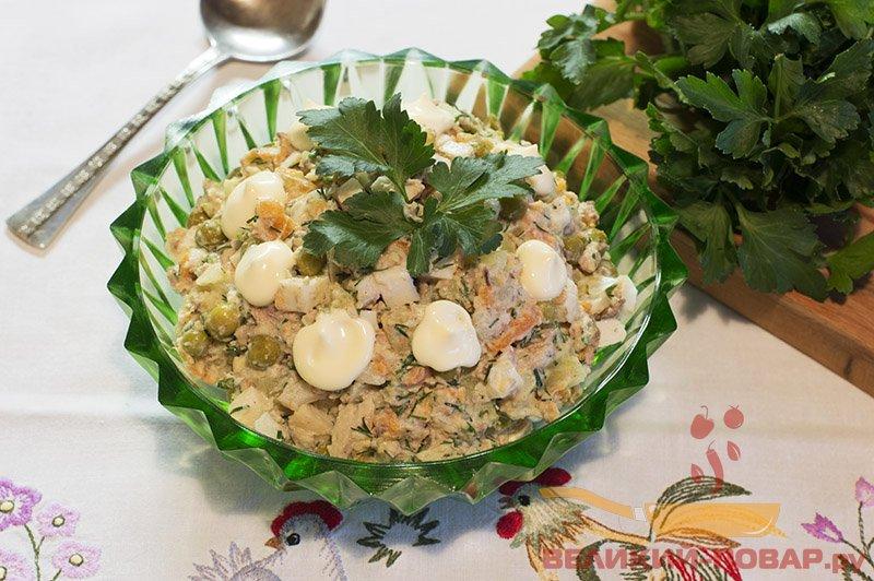 салат с рыбной консервой рецепт с фото с картошкой